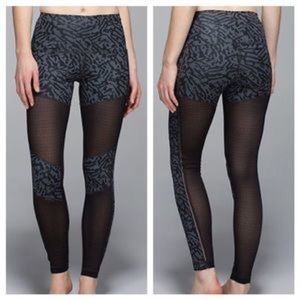 Lululemon Hot to Street Mesh Cutout Yoga Pants